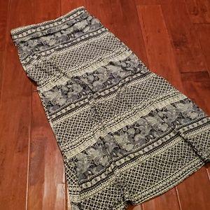 Navy and Cream Maxi Skirt